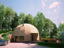 Moon House 33' Diam Dome 870 -1,500 sq.ft Strut Framing Kit Wood Prefab Diy Home
