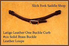 Latigo Leather One SB Buckle Curb Strap with Leather Loops