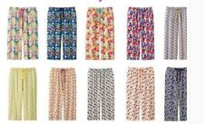 Women's Export Rayon Print Cropped Pants 659012