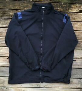 #70 XL Mens Nike Golf Windcheater Showerproof Jacket Blue Polyester Clean