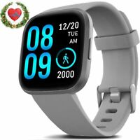 Smart Watch, Fitness Tracker with IP68 Waterproof Touch Screen Watches (Gray)