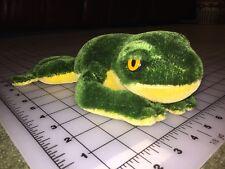"""Vintage Steiff Frog Toad Stuffed Animal Plush Figure 10"""" Long"""