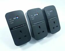 3x BT 500Mbps Broadband Extender Flex 500 Passthrough Powerline Ethernet Adapter