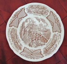 "Alfred Meakin China FAIR WINDS Brown Staffordshire England 7"" B/B Plate"