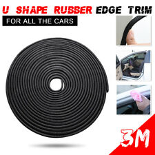 3M Car Door Edge Rubber Scratch Guard Protector Strip U-Shaped Moulding 10x6MM