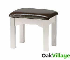 Grey Painted Oak Dressing Table Stool / Bedroom / Brand New Barlestone