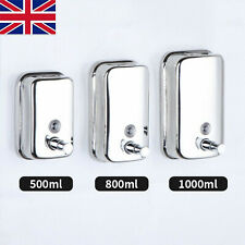1000ml Stainless Steel Liquid Soap Dispenser Shampoo Lotion Pump Wall-Mounted
