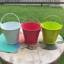 """Metal Vase Flower Pot Home Decor 2.5"""" Set of 3"""