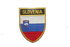 SLOVENIA COUNTRY FLAG OVAL SHIELD FLAG EMBROIDERED IRON-ON PATCH CREST BADGE
