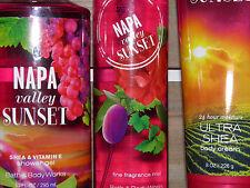 Bath & Body Works Napa Valley Sunset 3 PC  Shower Gel Mist Triple Lotion New