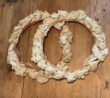 Ancienne Couronne De Fleurs Papier Crepon Antique Victorian Bridal Flowers Crown