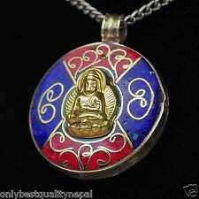 Buddha Anhänger Glück Amulett Nepalbuddha Indien Talisman a70