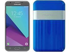 Boost Mobile Samsung Galaxy J3 Emerge with Powerocks Cirrus Power Bank Blue