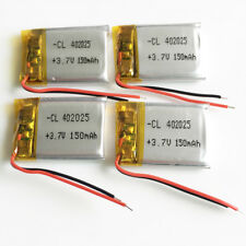 4 x 150mAh 3.7V rechargeable lipo battery For bluetooth Mp3 selfie stick 402025