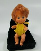 """Vintage Mattel Sunshine Family Rare Red Hair Baby Sweets 3"""" 1973"""