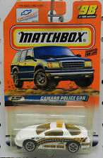 CHEVY CAMARO POLICE CAR Z28 1983 AT YOUR SERVICE # 98 1999 MBX MB MATCHBOX