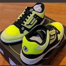 """$495 Mens Bally """"Kuba"""" Fluorescent Leather Trainer Sneakers Yelow US 11"""