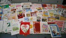 Lot of 130 Assorted Greeting Cards Valentine Birthday Graduation New