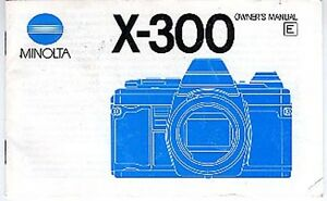 Minolta X-300 35mm Film Camera Instruction Book More X300 & Other Manuals Listed
