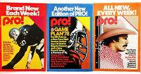 3 pc Lot Vtg 1970's Pro Magazine NFL Football Program Posters 18x24""