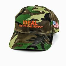Ideal Electrical Supply Cap Hat Strapback Camouflage Camo USA Flag