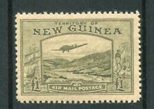 New Guinea KGVI 1939 Airmail £1 olive-green SG225 MNH