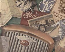 Vintage Automobile Advertizing Map Goggles Gloves - Wallpaper Border 475