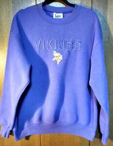 Minnesota VIKINGS NFL Sweatshirt Cotton Blend -Purple & Gold men/women- Size L