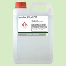 Lactic Acid 80% 2.5 Litre (2.5L) Food Grade Acne/Facial/Home Brew