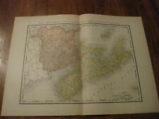 Nice Antique Map of New Bru, Nova Sc & Pr Edwd c.1895