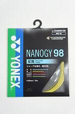 5 pkts YONEX Badminton Nanogy 98 NBG-98 String, JP Version (Paper Case), Yellow