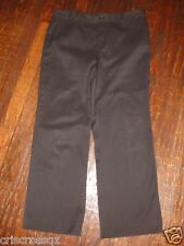 BANANA REPUBLIC * Harrison * CHOCOLATE BROWN Capris CROPPED Pants * sz 4 or 6 *