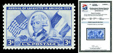Scott 1010 1952 3c Blue Lafayette Issue Mint Graded Superb 98 NH with PSE CERT!