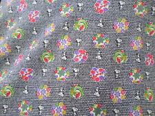 1 yd prints   fabric good weight 4 way stretch  spandex lycra J4973