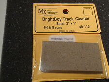 "Micro Engineering #49-113 BRIGHTBOY TRACK CLEANER SMALL 2"" x 1"" BIGDISCOUNTTRAIN"