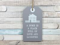 Grey Shabby Chic Wooden Hanging Plaque A Home Is Full Of Love And Laughter Sign