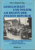 Gesellschaft Und Politik Am Beginn der Zweiten Republik, Oliver Rathkolb