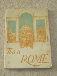 1944 This is Rome - Leone Gessi Vintage Paperback with Fold-Out Map UK Rare