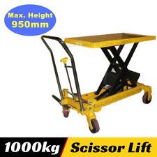 Hydraulic Table Cart Scissor Lift 1000 Kg Lifting Capacity Heavy Duty