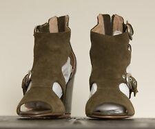Siren - Khaki ,Leather, Koda Sandal Near New- size AU 6