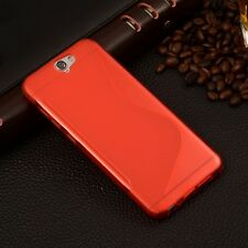 HOUSSE ETUI COQUE SILICONE GEL ROUGE HTC ONE A9
