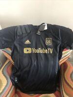 adidas Authe LA Los Angeles FC  MLS usa soccer jersey NWT Size L mens