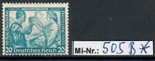 Deutsches Reich Mi-Nr.: 505 B Nothilfe 1933 sauberer Wert mit Falz