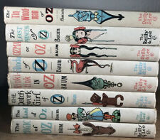 Vintage Set of 8 Famous OZ Books L Frank Baum by Reilly & Lee Wizard Of Oz