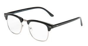 Eyelevel Mens Reading brow line Glasses Albany Black 1.25 1.50 2.00 2.50 3.0 3.5