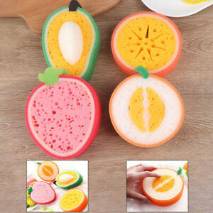 Washing Dish Towel Fruit Shape  Thicken Scouring Sponge Cloth Kitchen Cleani_cd