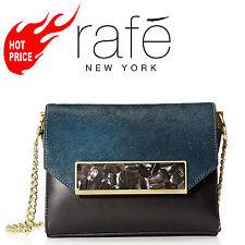 RAFE NEW YORK Women's Alina Flap Cross-body, Teal Combo Retail Price 495$