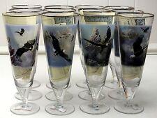 Pilsner Beer Glasses Soaring Spirits - Set of 12 - Ted Blaylock USA Eagles COAs