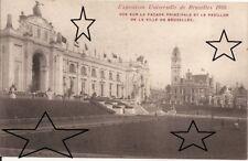 CPA - EXPO BRUXELLES 1910 - Façade principale & pavillon de Bruxelles - NEUVE