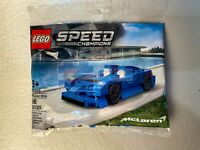 Lego 2021 Speed Champions Mclaren Elva Blue Poly Bag 30343 86 PCs Rare HTF New